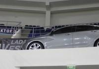 Пластиковый макет LADA Vesta развлекает спортсменов