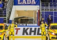 Гоночная Лада Веста на хоккейном матче