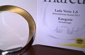 Седан Лада Веста завоевал престижную премию Marcus в Австрии