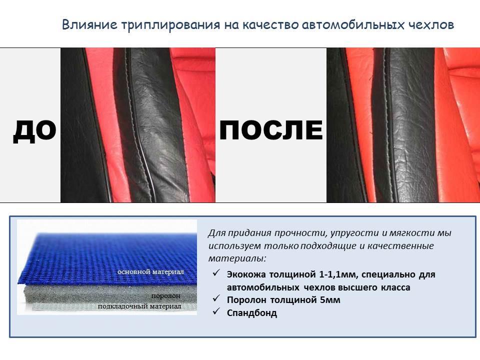 влияние триплирования на качество автомобильных чехлов